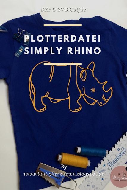 Das Nashonmotiv Simply Rhino ist eine Plotterdatei die für kleinere und größere Kinder, aber auch Erwachsene genutzt werden kann.