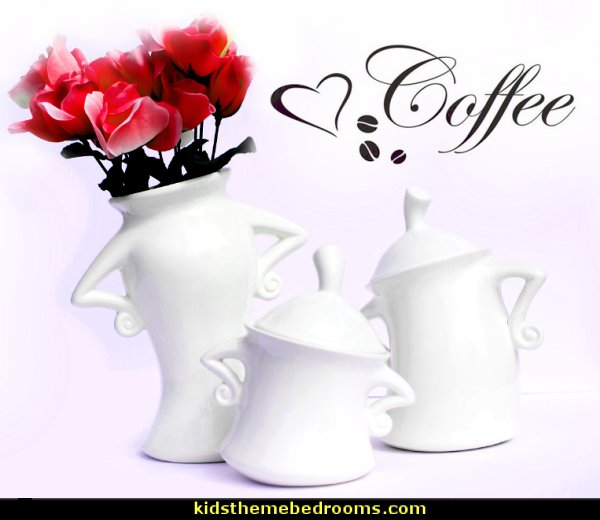 coffee time Kitchen Canister Set   coffee theme decor - coffee themed decorating ideas - coffee themed kitchen decorations - coffee cup theme in the kitchen - coffee kitchen decor - coffee wall decal stickers - coffee cafe decor - coffee wallpaper murals - Barista tools  coffee cafe - coffee bedding - coffee pillows -  coffee ugs - coffee cup chairs - cafe decorations -  barista  espresso latte cafe