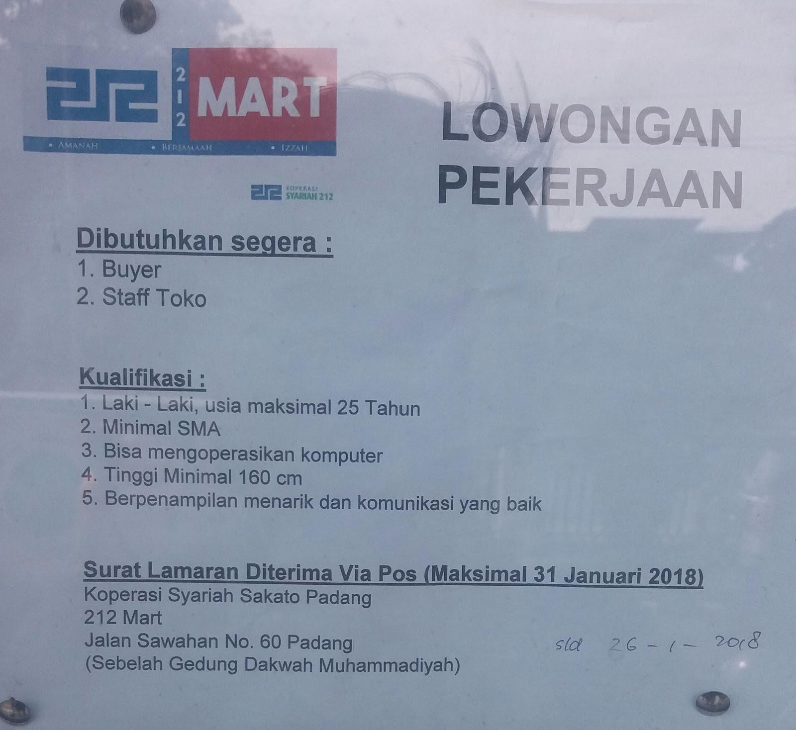 Ilmu Pengetahuan 1 Lowongan Kerja Terbaru Kota Padang