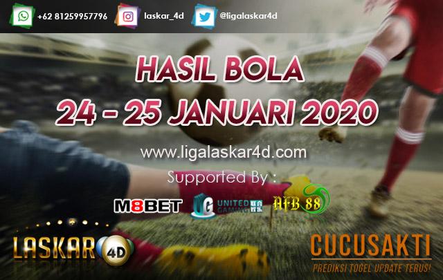 HASIL BOLA JITU TANGGAL 24 – 25 JANUARI 2020