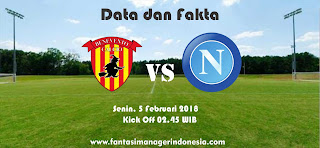 Data dan Fakta Liga Fantasia Serie A Gio 23 Benevento vs Napoli Fantasi Manager Indonesia
