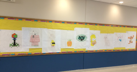 Coordinate Plane Graphing Pictures Hallway Display