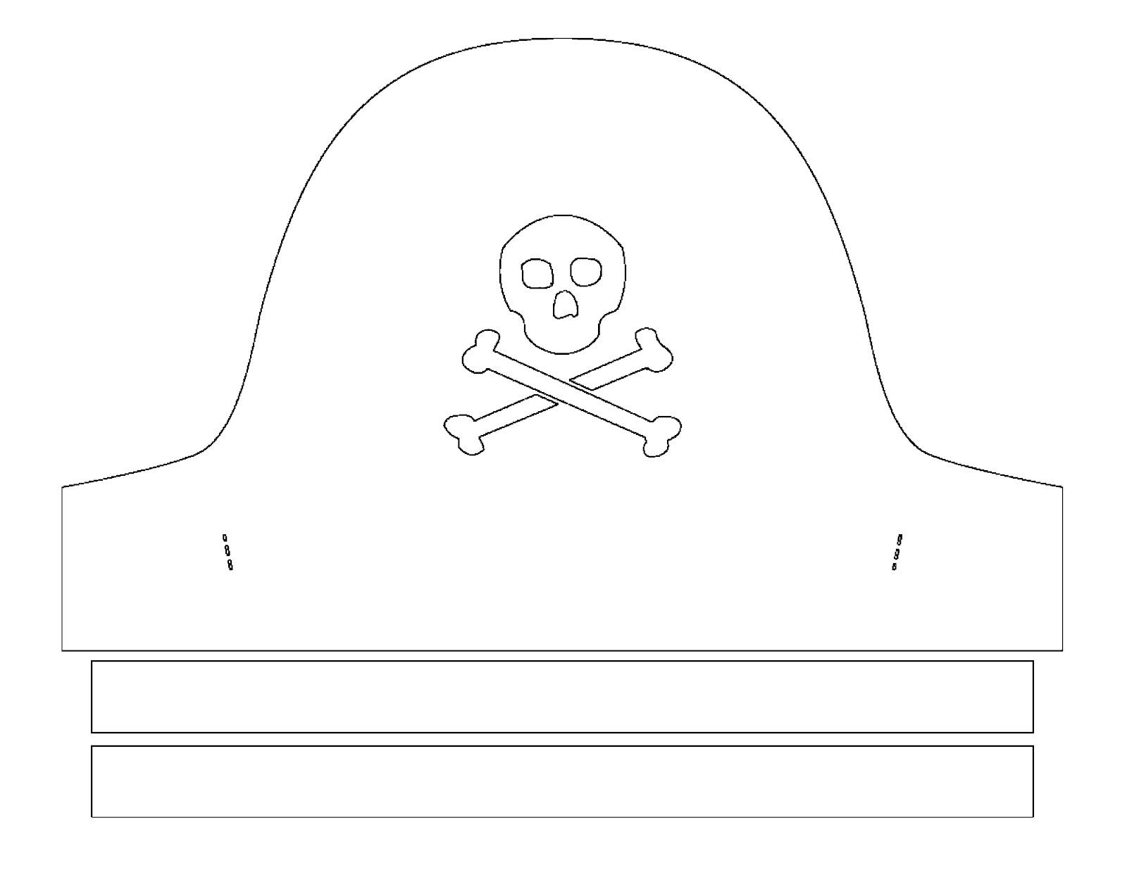 Máscara y sombrero de pirata para recortar