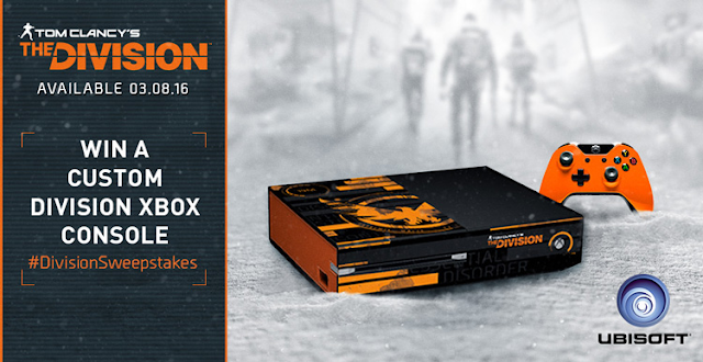 Tom Clancy's The Division custom Xbox One skin orange black
