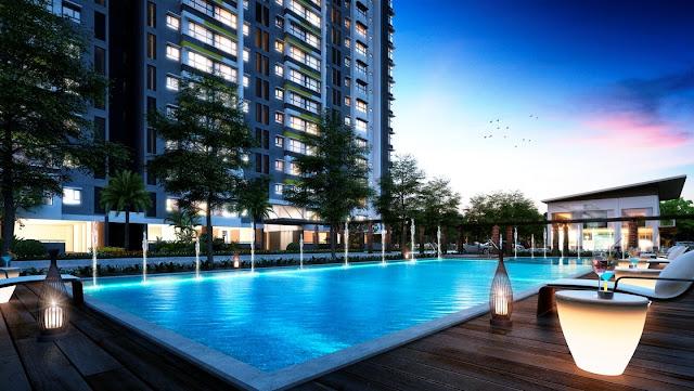 Bể bơi cao cấp tại tầng 4 chung cư ICID Complex