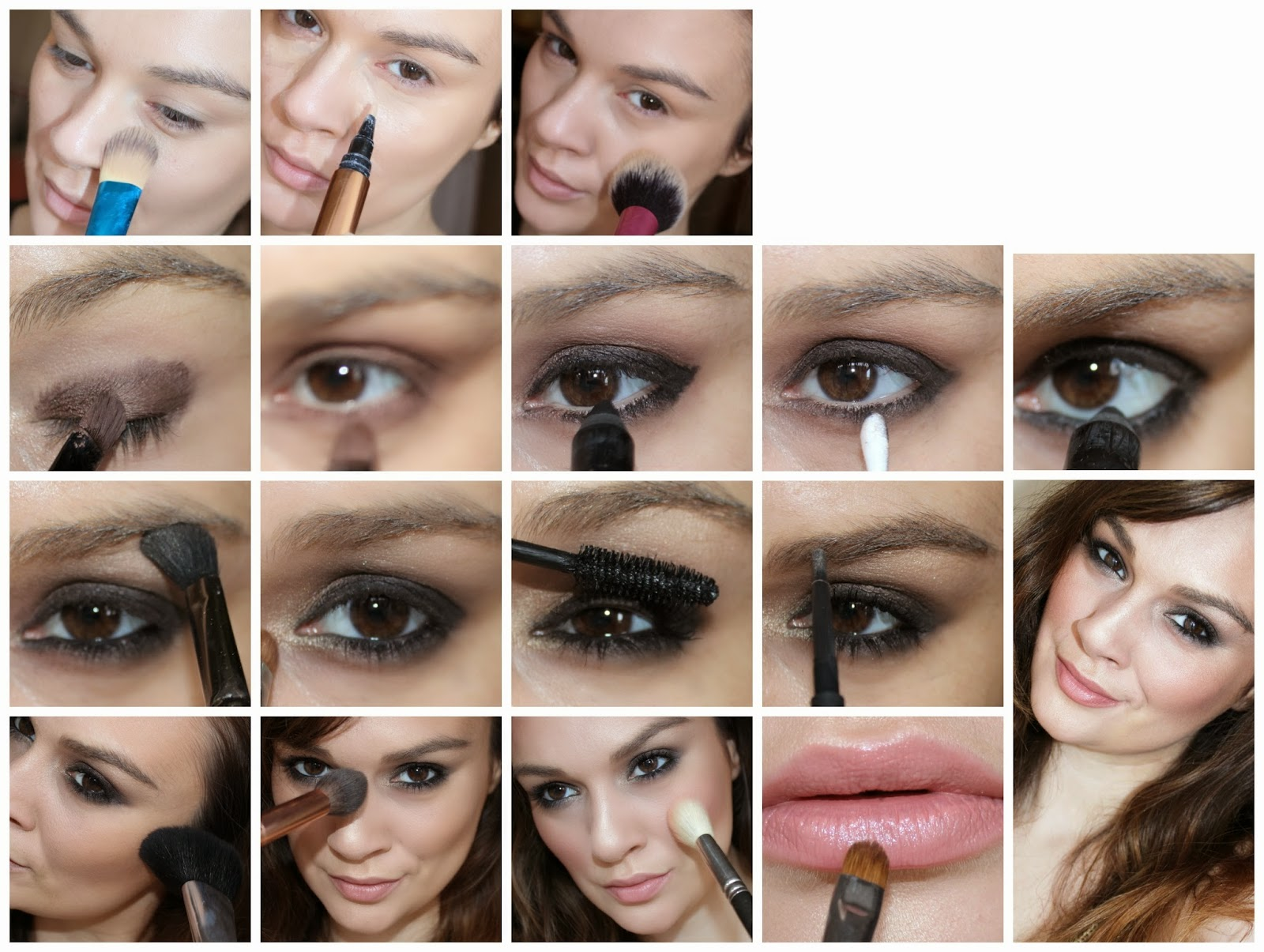 Pictures of eye makeup application