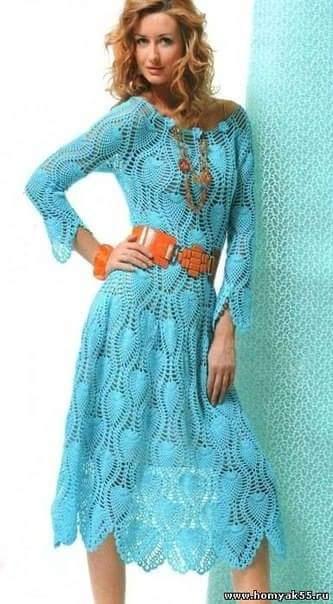Crochet Esquemas: Un lindo vestido para hacer