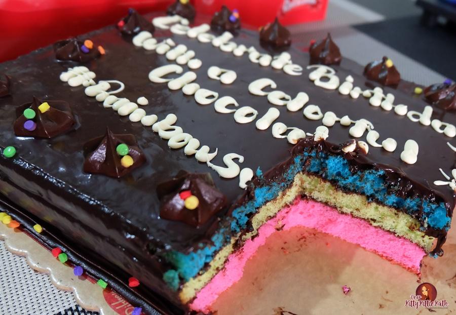 Red Ribbon Rainbow Dedication Cake Dear Kitty Kittie Kath Top