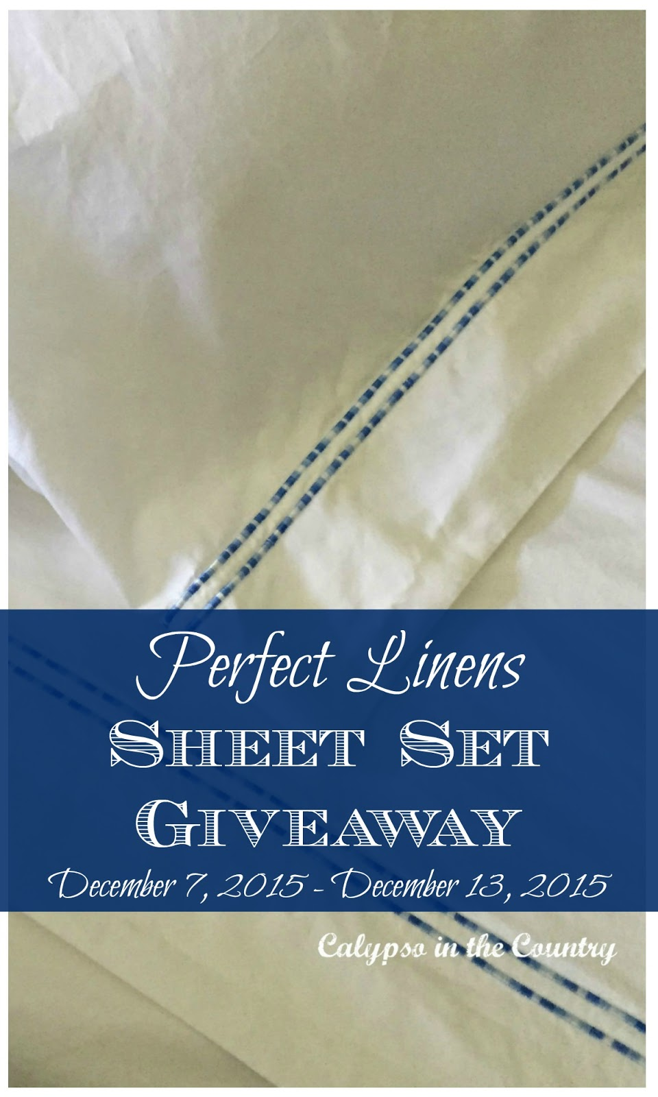 Enter for your chance to win one Perfect Linens sheet set (King or Queen)