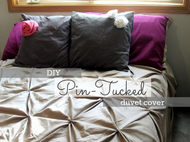 how to make a pintucked bedspread