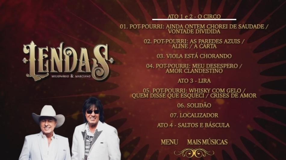 CLICK AQUI  Milionário & Marciano Lendas DVDRip + DVD-R 2