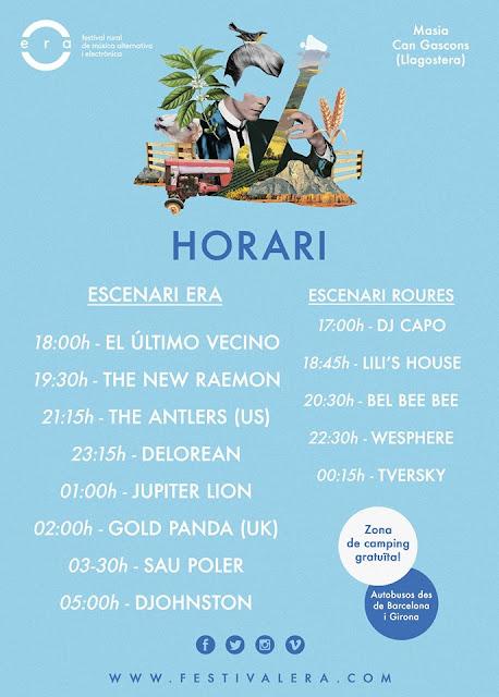 Horarios Festival'Era 2015