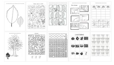 Cahier d'activités mathématiques sur le thème de l'automne