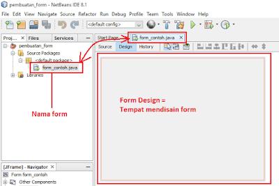 7 - Tutorial 3 Pemrograman Java Netbeans - Cara Menciptakan Form