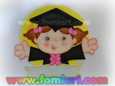 Decoración para graduación en foamy