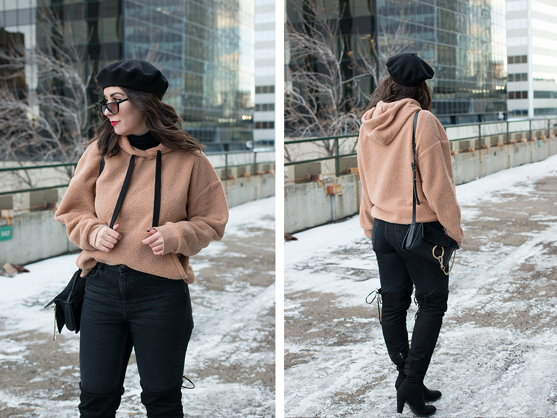 The Faux Shearling Hoodie Everyone's Talking About