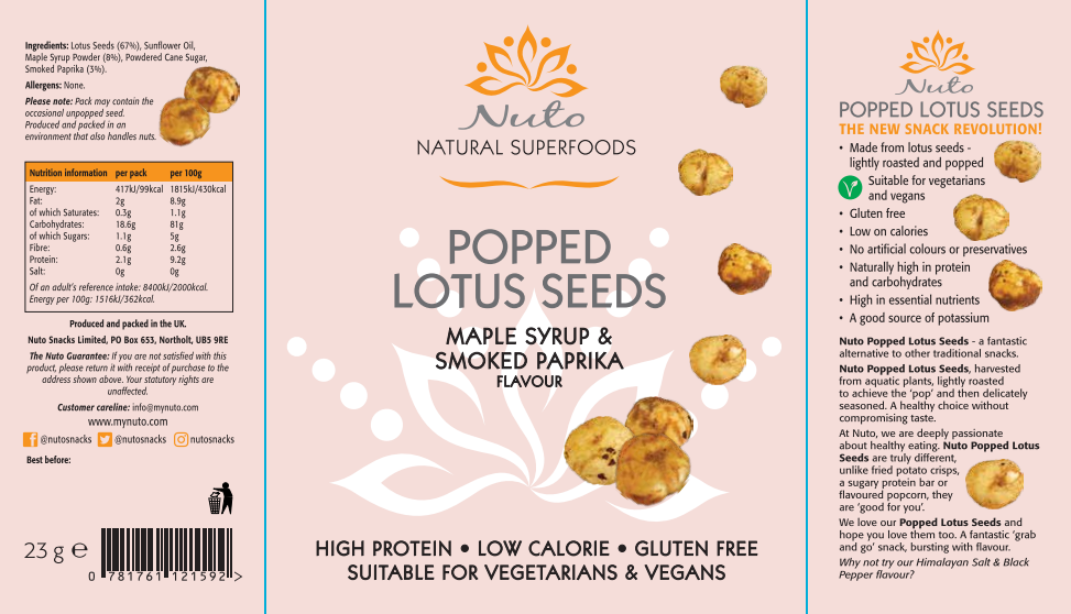 Nuto Popped Lotus Seeds Vegan & Gluten Free