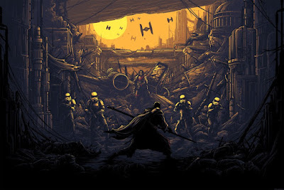 "Star Wars Rogue One ""I Am One With The Force, The Force Is With Me"" Variant Screen Print by Dan Mumford x Dark Ink Art"