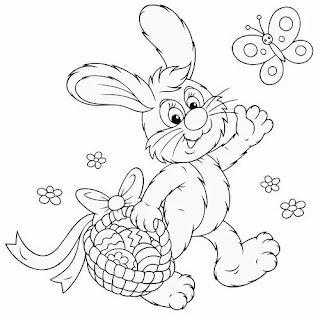 Desenhos Colorir Pintar Páscoa 2019 - Imprimir Atividades Infantis Crianças