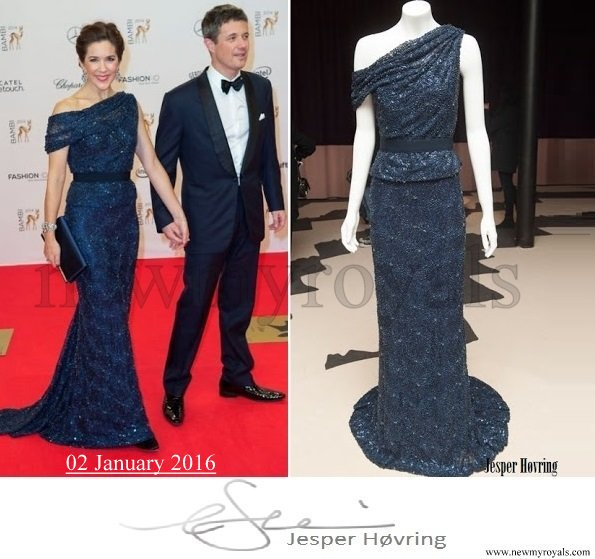 Crown Princess Mary wore Jesper Hovring gown