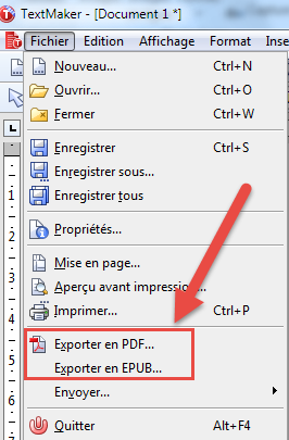 تحويل الى pdf  و epub