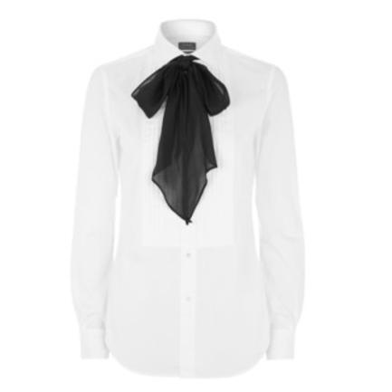 Fashion week crush is Polo Ralph Lauren Lindsay Tuxedo Pussy bow Shirt