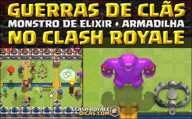 Nova carta Monstro de elixir e armadilha Clash Royale Leak cards