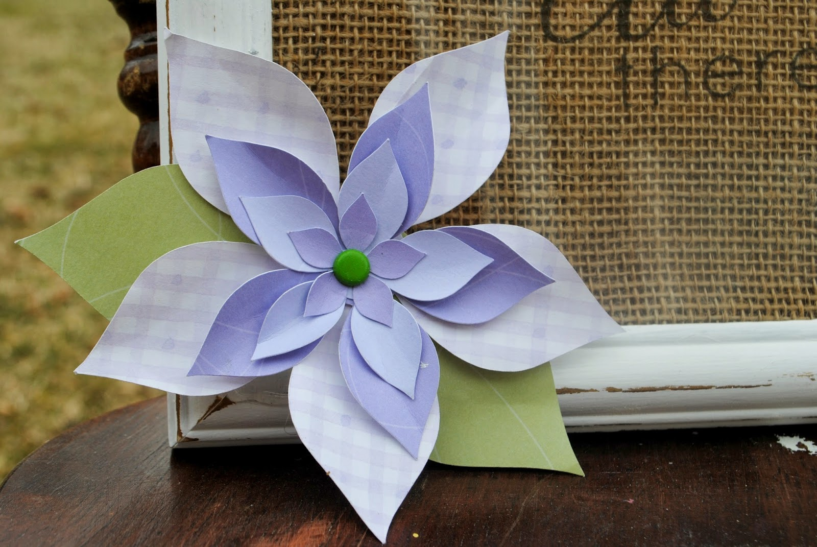 Cut, Silhouette, different paper, one cut, Silhouette tutorial, 3D, paper flower