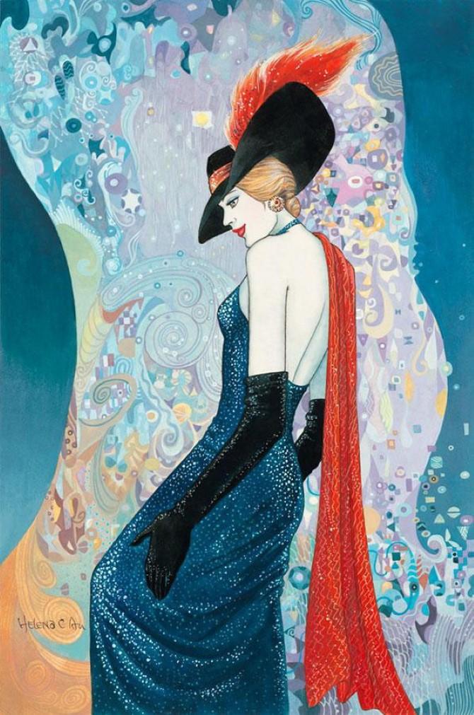 Helen Lam. Картины в стиле ар-деко 18