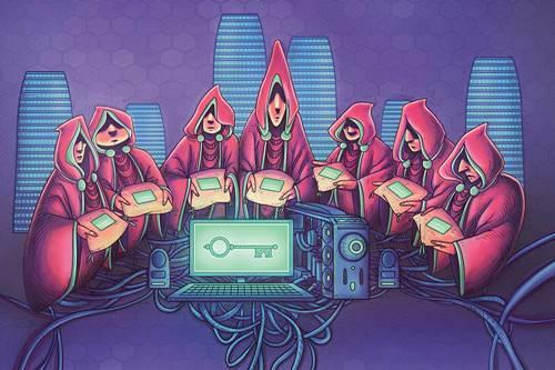 Sete guardiões e sete suplentes guardam uma chave que pode reiniciar o sistema DNS