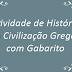 A Civilização Grega - Atividade de História com Gabarito