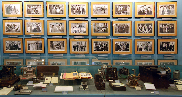 old photos, documents and old cameras in Cinema Museum of Iran.