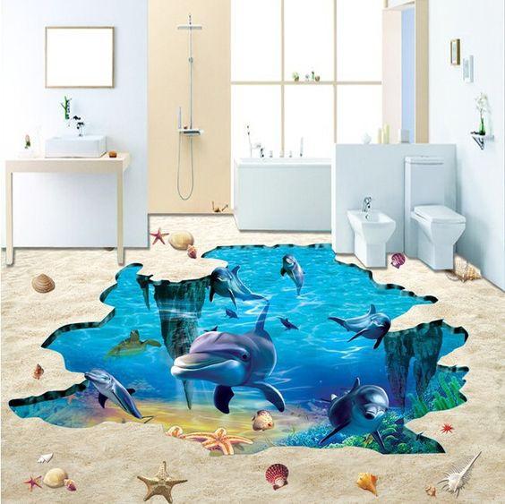 Mặt sàn nhà 3D đại dương