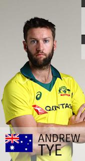 Andrew tye image, andrew tye in World Cup 2019