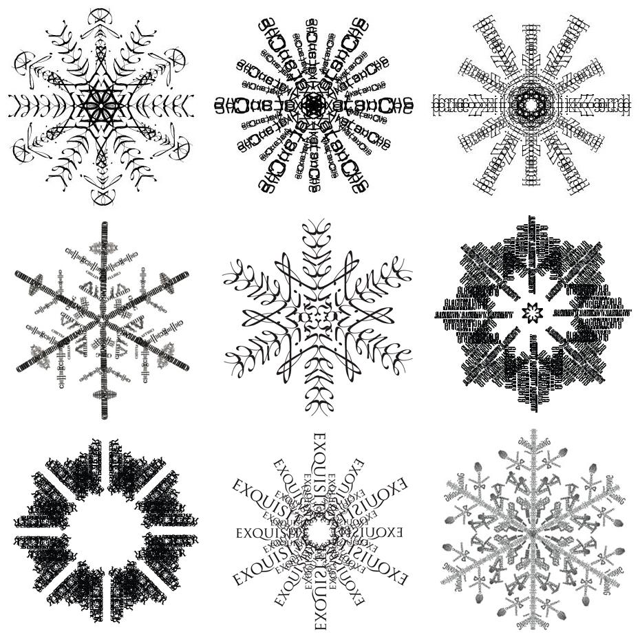 Letterology Faux Snow Job