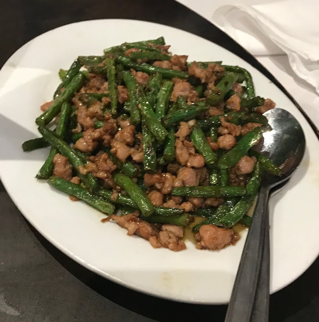 Shark Fin Inn, Melbourne, green beans and pork