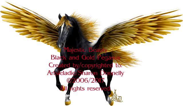 Pegasus graphic art by/copyrighted to Artsieladie