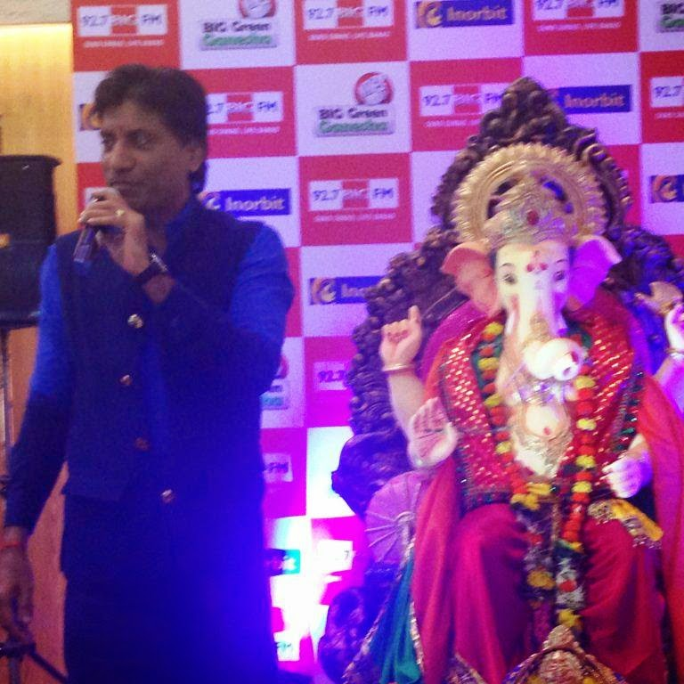 Celebs visit eco friendly Big Green Ganesha at Inorbit Mall