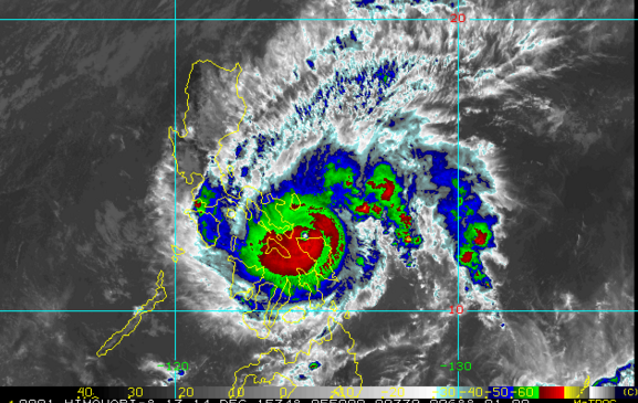 'Bagyong Nona' crosses Burias Islands, to pass over Mindoro Tuesday