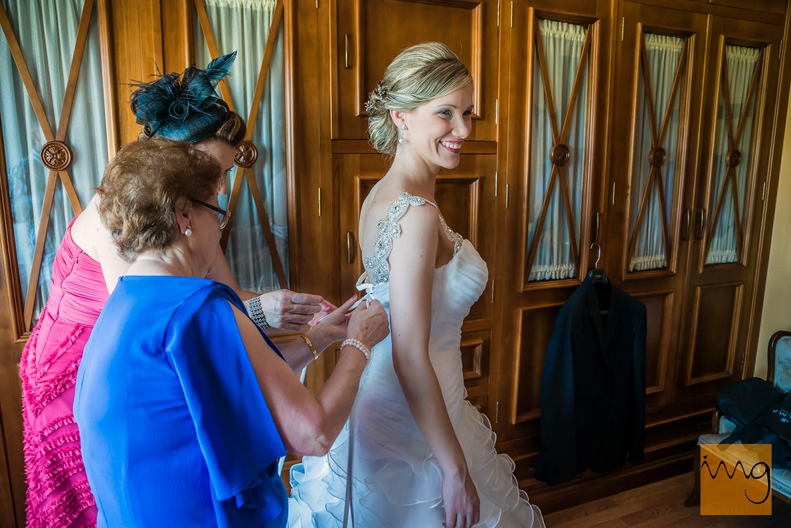 Foto de los preparativos de la novia
