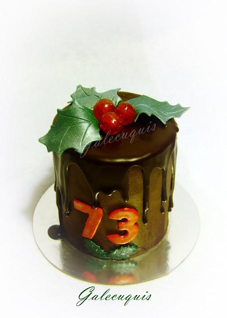 Drip cake de navidad