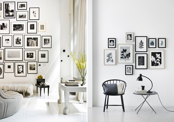 comment dcorer un mur avec des cadres rnovation escalier. Black Bedroom Furniture Sets. Home Design Ideas
