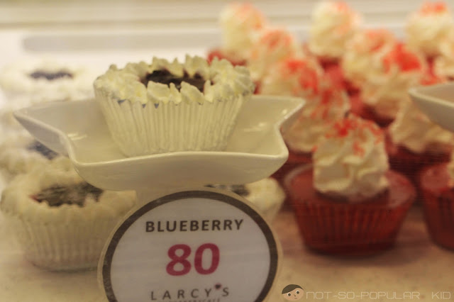 Larcy's Blueberry Cupcakes at P80
