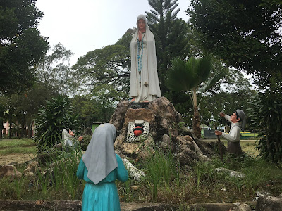 Grotto in front of the Our Lady of Sorrows