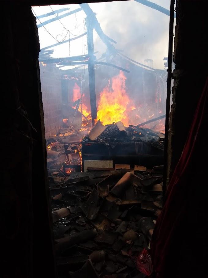 Incêndio destruiu residência em Crateús