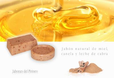 Jabón Natural de Leche de Cabra, Miel y Canela