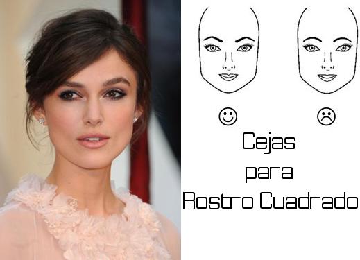 como dibujar las cejas para un rostro cuadrado