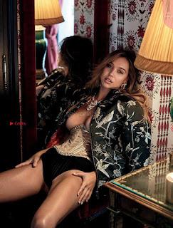 Alexis Ren huge boobs golden boobs for Maxim Magazine July 2017