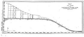 A drawn ski jump in profile.