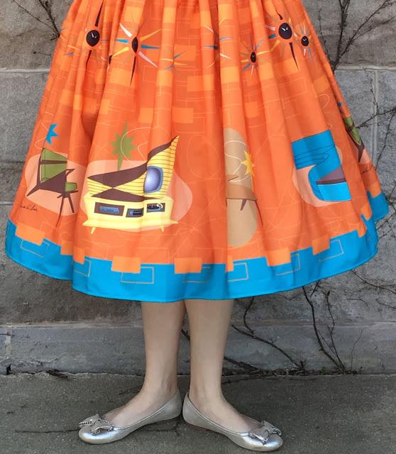 Oblong Box Shop furniture print skirt